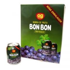 Caixa de Suco de Uva Roxa com pedaços da fruta Bon Bon OG - 12 unidades