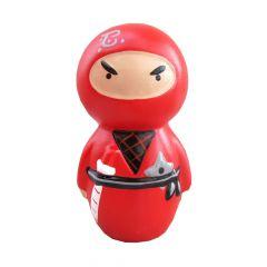 Boneco Ninja Cofre - Vermelho