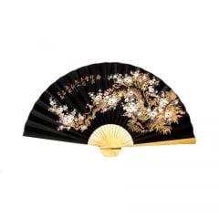 Leque Decorativo Oriental Sakura 3 - Preto 1,10m