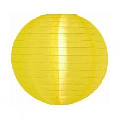 Luminária Oriental Amarela Nylon Lisa - 40 cm