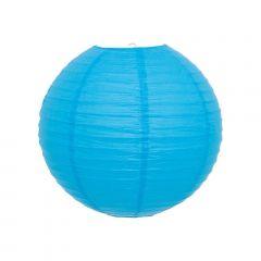 Luminária Oriental Azul Lisa - 30 cm