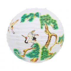 Luminária Oriental Branca Tsuru - 40 cm