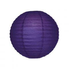 Luminária Oriental Roxa Lisa - 35 cm