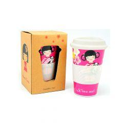 Copo para Café Xiau Mei – Rosa