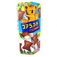 Biscoito de Chocolate Koala com Recheio de Chocolate Branco Lotte - 49 gramas