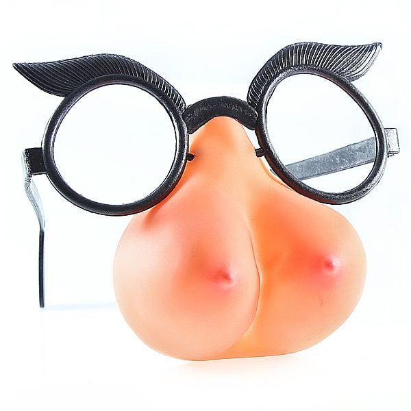 Óculos com nariz formato Seios