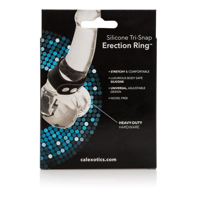 Anel Peniano Retardador Tri-Snap Erection Ring - Anel peniano com 3 níveis de controle de largura