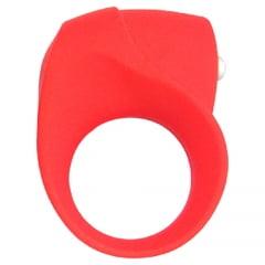 Anel peniano Ring Anna vibratório em silicone vermelho