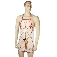 Avental Erótico Com Ilustração De Corpo Masculino