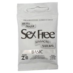 Preservativo Lubrificado Muito Prazer Sex Free - Sensitive