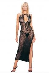 Vestido Longo Sensual Rendado Leg Avenue