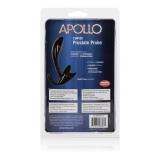 Plug Anal Curvado Apollo Curved Prostate Probe - Plug anal curvado com 11,50 cm de comprimento e estimulador de períneo