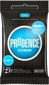 Preservativo Prudence Extreme 3 em 1 - Com 3 unidades
