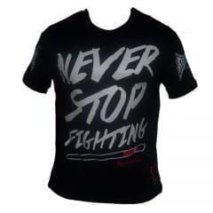 Camiseta Manga Curta Fight Wear Never Stop