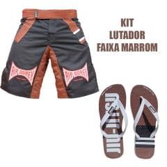 Kit Lutador Faixa Marrom