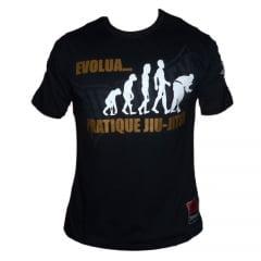 Camiseta Manga Curta Jiu-Jitsu Evolua Pratique