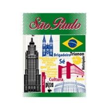 Pano de Copa - Santista - 100% Algodão - Países e Cidades -  Sortido