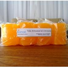 Vela Artesanal de Citronela - 50g - Embalagem com 8 Unidades